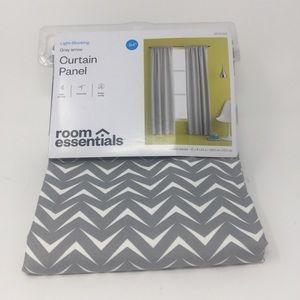 Room Essentials Gray Arrow Light-Blocking Curtain